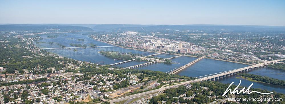 7 Bridges over Susquehanna Aerial - Harrisburg Area, Pennsylvania