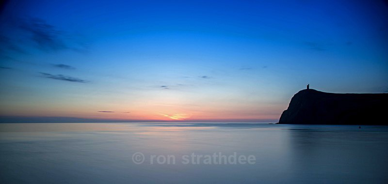 Still Sunset in Port Erin - Skies of Man
