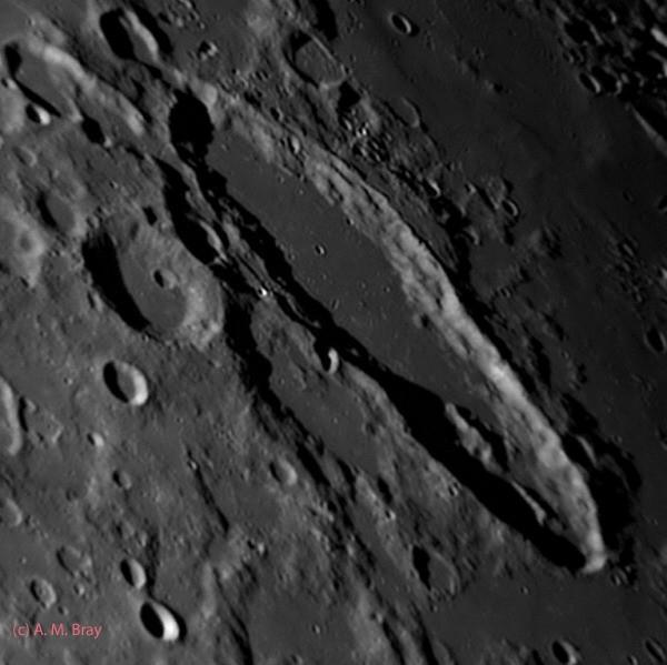 Unusual crater Schiller - Moon: South West Region
