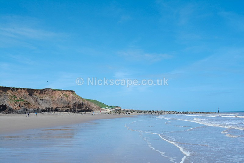 Sunny Summers Day at Mappleton Beach on the Yorkshire Coast - Yorkshire
