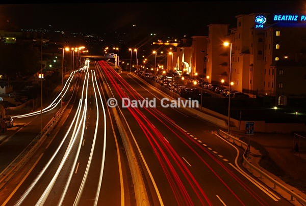 Car Light Trails - Nocturnal