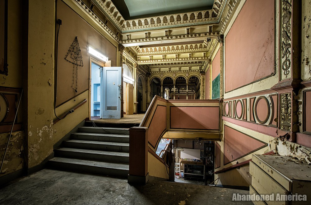 Mezzanine Stairway at The Westlake Theatre, Los Angeles, CA | Abandoned America