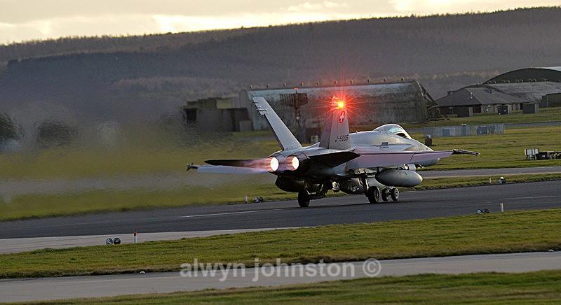 F-18 C 4 - RAF LOSSIEMOUTH VISIT NOV 2017