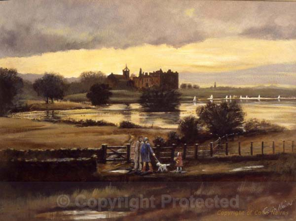 Linlithgow Loch - winter walk - Original Work FOR SALE