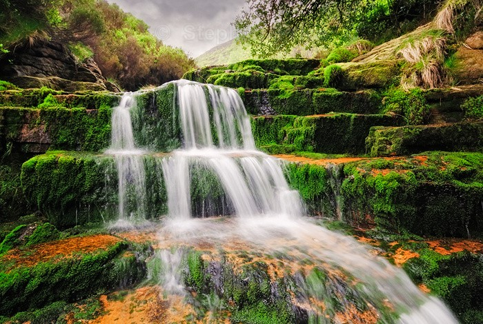 Black Clough | Mossy Derbyshire Waterfall Photograph