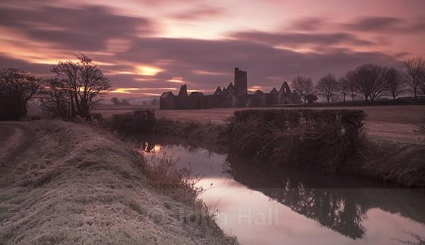 Winter Sunrise At Kilcrea Friary, Co. Cork, Ireland.