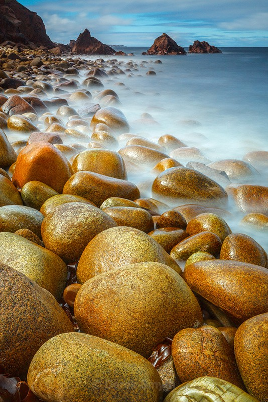 Sunlit Pebbles - Bloody Foreland Beach