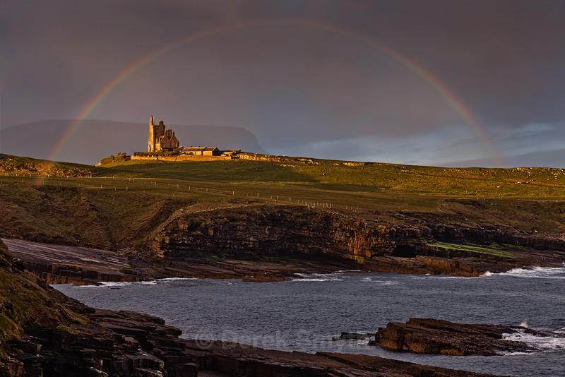 Classiebawn Castle Under A Rainbow - Mullaghmore County Sligo