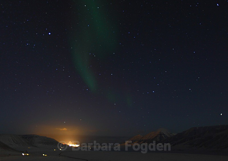 Northern light in Adventdalen 4864 - Polar night