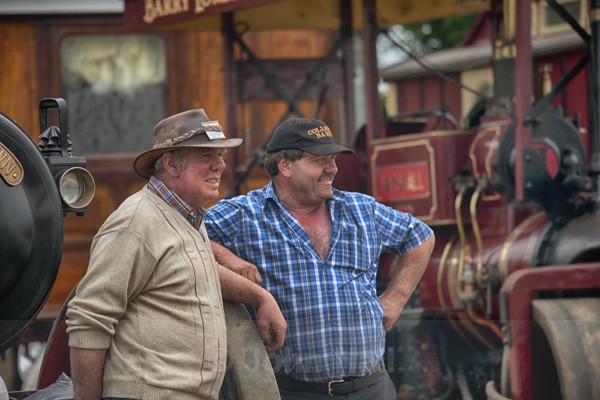 Two Men With Their Machines At Innishannon Steam And Vintage Rally, Co. Cork.