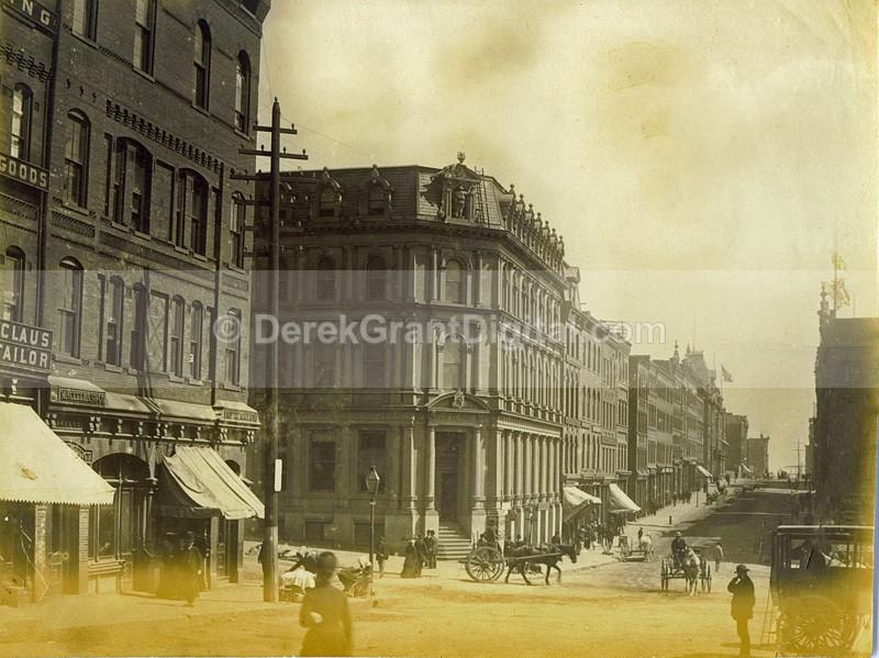Prince William Street View Albumen Pre Great Fire St. John NB Canada - Historic New Brunswick