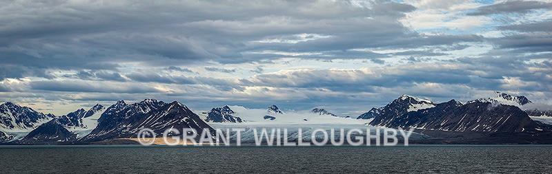 Arctic glacier panorama - Arctic