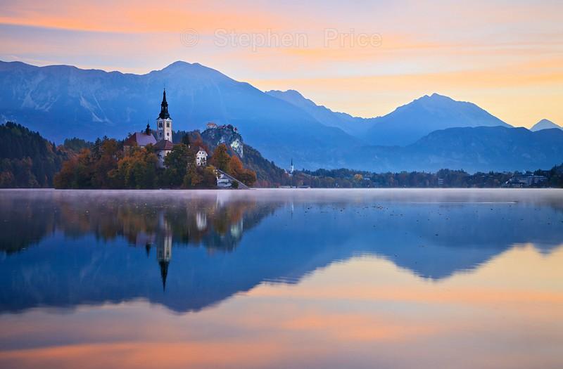 Lake Bled Slovenia | Dawn over Lake Bled Island