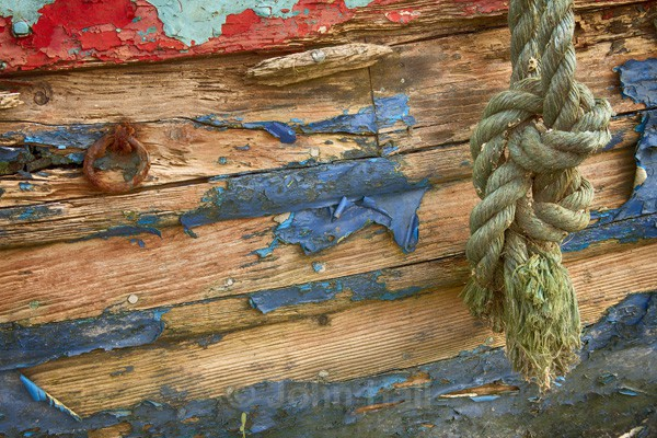 Close Up Detail Of An Old Abandoned Boat At East Ferry, Co. Cork, Ireland.