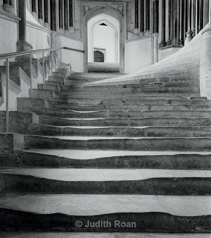 Wells Cathedral steps - Images from England