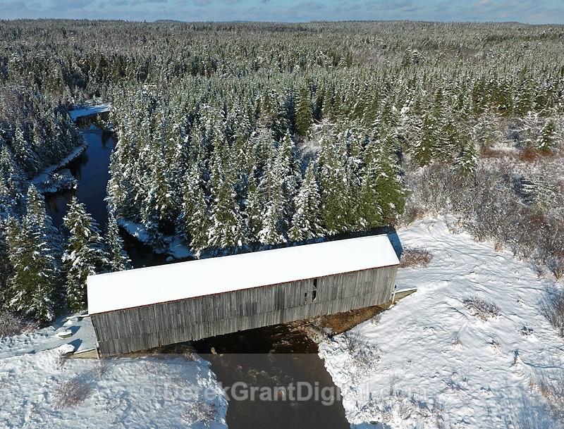 Little Lepreau River Covered Bridge #1.5 Mill Pond NB Canada 1910 - Covered Bridges of New Brunswick