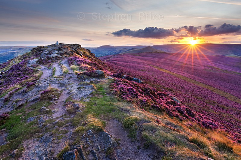Summer Heather Sunset Photography | Win Hill Peak District