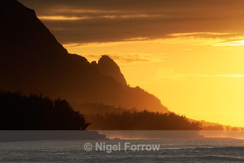Sunset at Makahoa Point, Kauai - Hawaiian Islands, USA