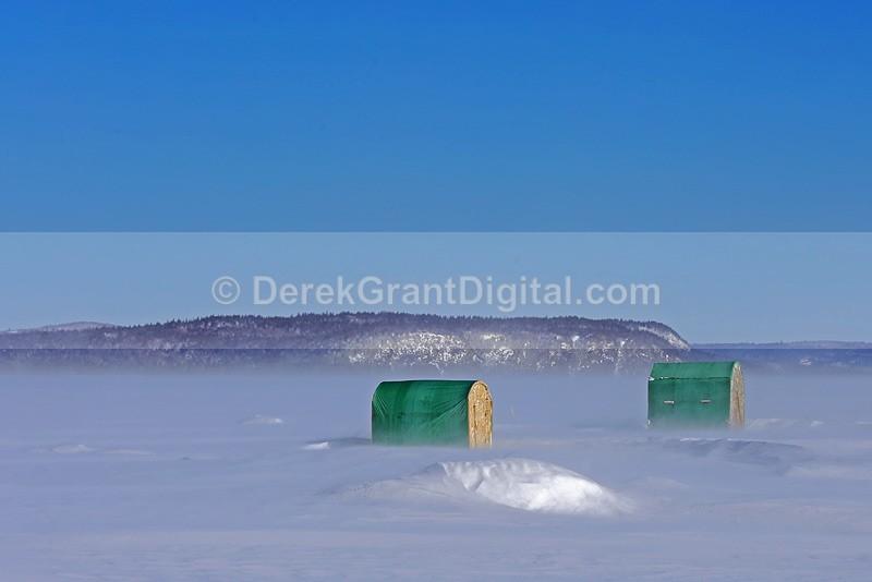 High Winds, Drifting Snow - Winterscape