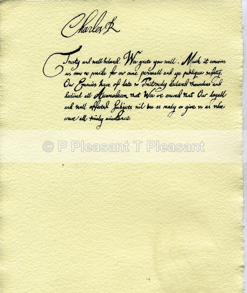Replica letter for museum - Museum and historical work