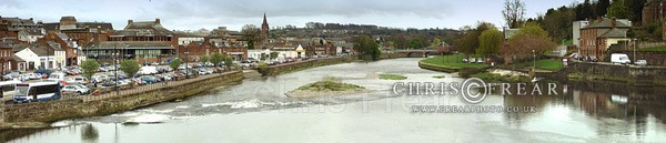 Dumfries from Devorgilla Bridge - Panoramics