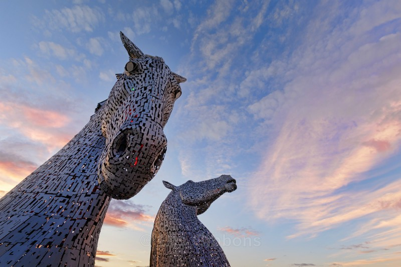 Kelpie sunset2 - Edinburgh and the Lothians