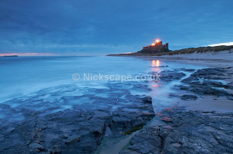 Bamburgh Castle at Dawn Landscape Photo | Seascape Photography by Nickscape