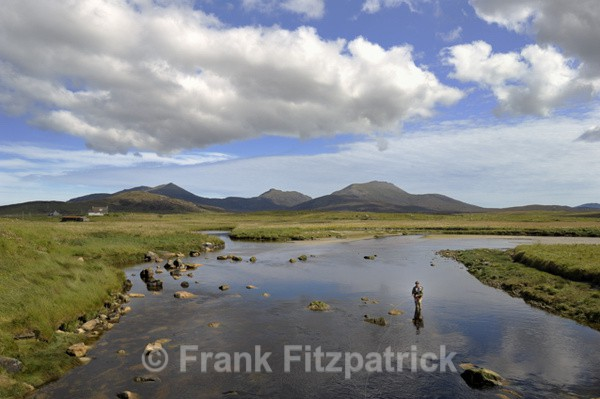 Beinn Mhòr from Howmore. - Island of South Uist in the Outer Hebrides