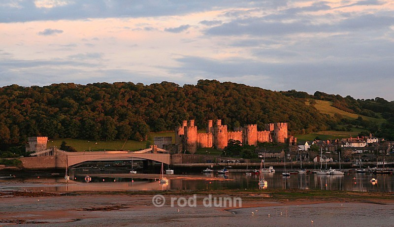 Sunset on Conwy Castle - Wales