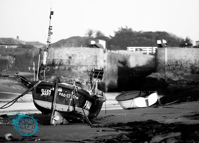 Bude Harbour - Black and White