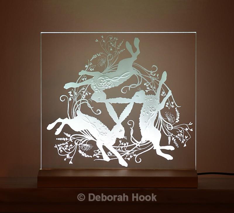 Tumbling hares - Glass