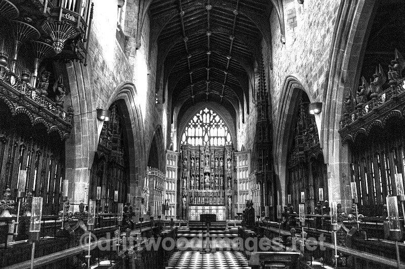 Newcastle Cathedral nave bw 2 HDR reduced - High Dynamic Range pictures