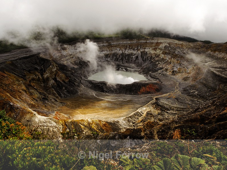 The active crater of Poás Volcano, Costa Rica - Costa Rica