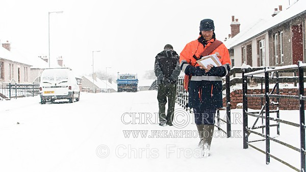 Delivering the Mail in the Snow - Location Portraits