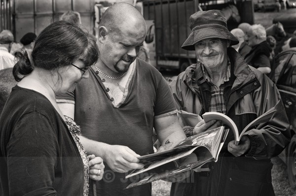 Fine Art Monochrome Of Horse Traders Enjoying Puck Fair 2013