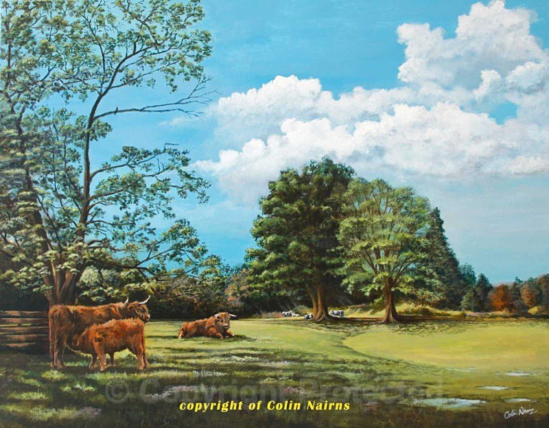 'Highlanders at Scone' - Landscapes