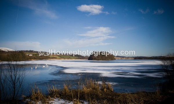 Gartmorn dam fozen - clackmannanshire