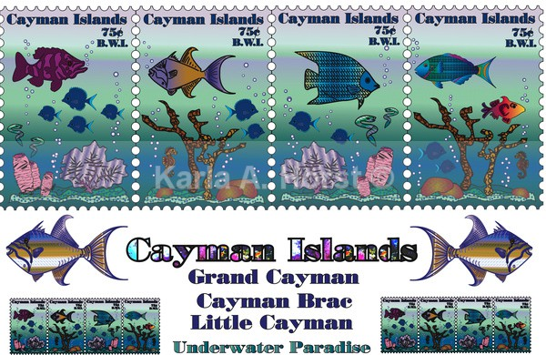 Stamp - Cayman Islands - Illustrations