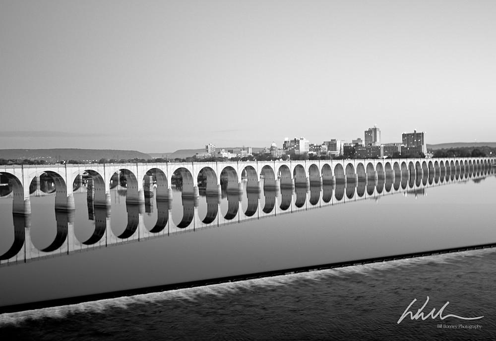 Railroad Bridge Reflection - Harrisburg Area, Pennsylvania