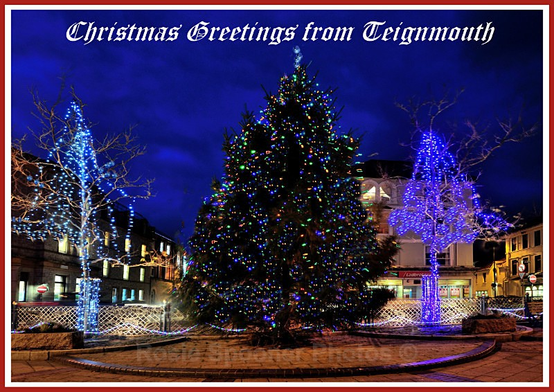 TS35 -Christmas at Teignmouth Triangle in Devon - Greetings Cards Teignmouth and Shaldon