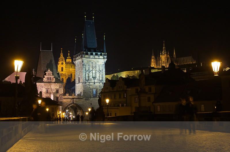 Charles Bridge at night - Prague, Czech Republic
