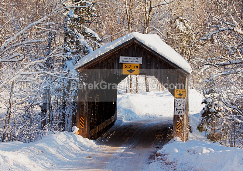 Moores Mill Covered Bridge Waterford New Brunswick Canada - Covered Bridges of New Brunswick