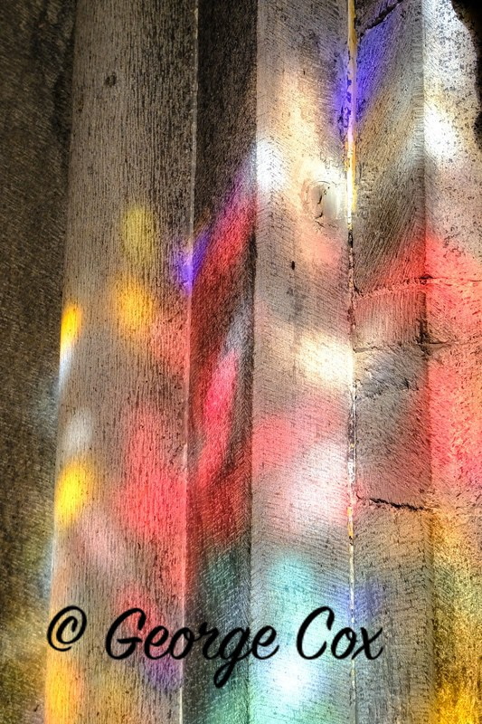 Stained Glass Reflection - Chur Cathedral - Switzerland