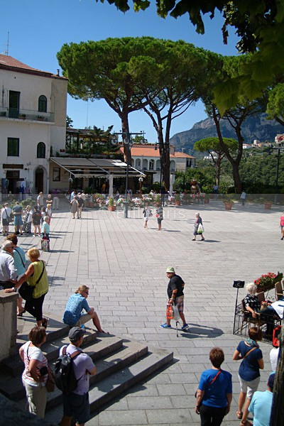 A Tourist Delight The Piazza Duomo. Ravello. - Land and Sea
