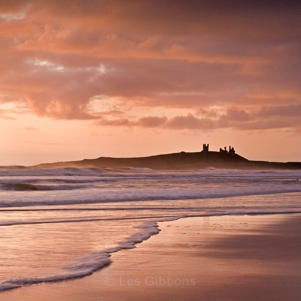 Dunstanburgh castle dawn - Northumberland