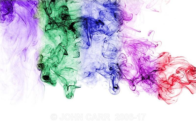 Multi coloured abstract smoke-Horizontal