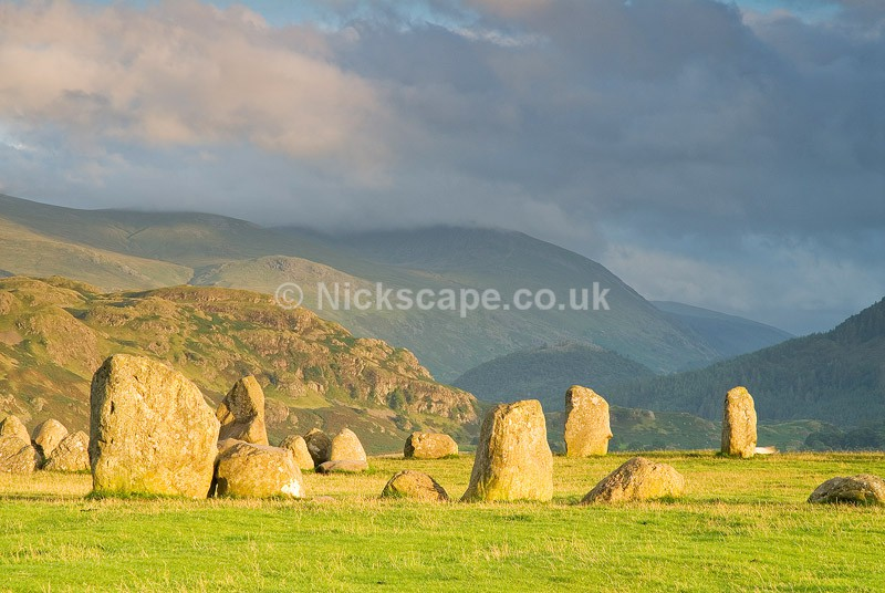 Photo of Castlerigg Stone Circle above Keswick in the Lake District National Park - lakeland scene