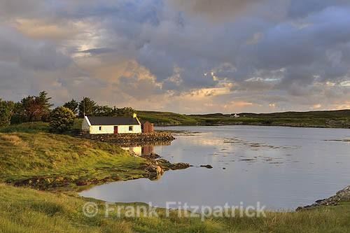 The Doctors house, Loch Carnan, South Uist - Island of South Uist in the Outer Hebrides