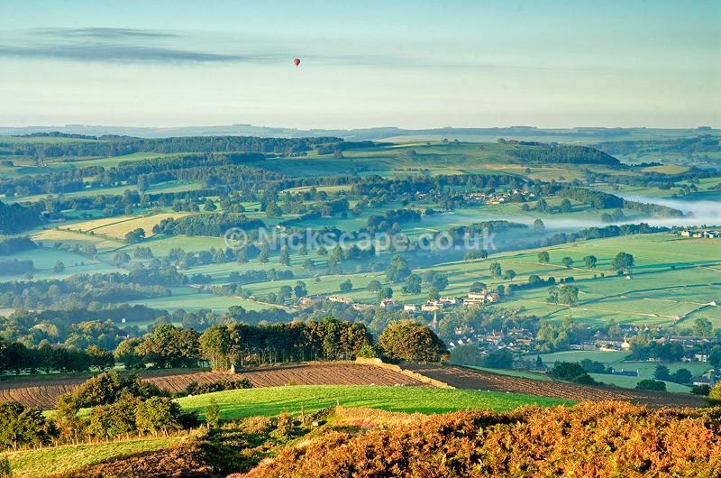 Hot Air Balloon Trip Rising above the Peak District National Park