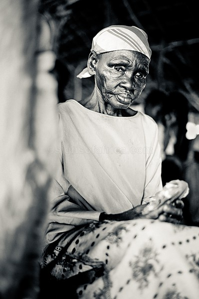 South Sudan, Referendum, Elderly Lady on Day of Voting, Kotobi, Sudan